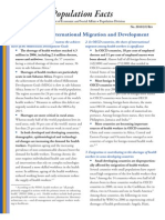 UN Population Facts - Health Workers, International Migration and Development