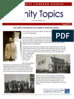 Trinity Topics August 2015