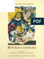 República Literaria de Diego de Saavedra Fajardo