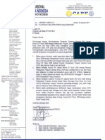 Surat Edaran tentang JSHK dari organisasi