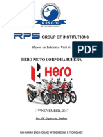 Hero Moto Corp Industrial Visit Report 2017