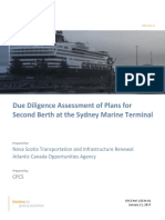 Due Diligence Assessment of Second Berth at the Sydney Marine Terminal