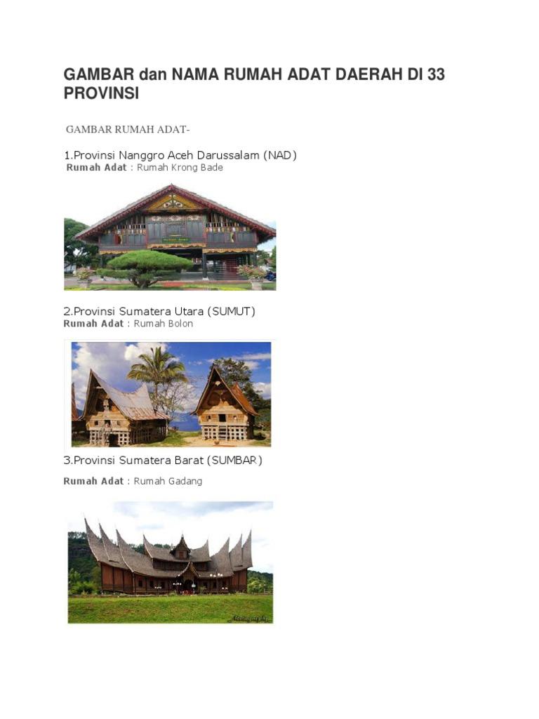 96 Nama Dan Gambar Rumah Adat Aceh Gratis Terbaik