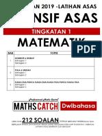 [2019-] Modul Latihan Matematik PT3 (TINGKATAN 1)