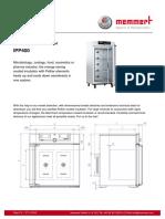 Memmert Peltier Cooled Incubator IPP400.En