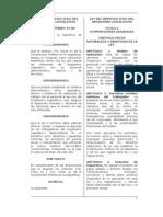 Ley del Servicio civil del Organismo Legislativo