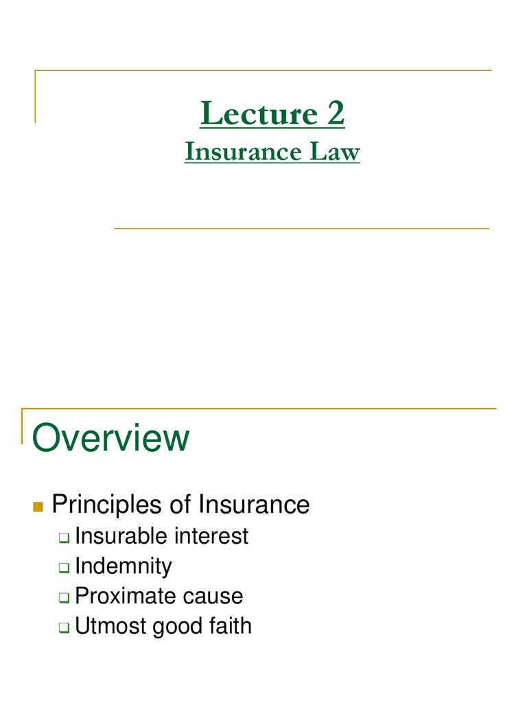 Insurance Ppt | Indemnity | Insurance