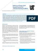 IAPWS Guidance for Chemical Monitoring and Fast-Start HRSGs