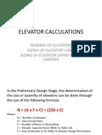 240107358 Elevator Calculations