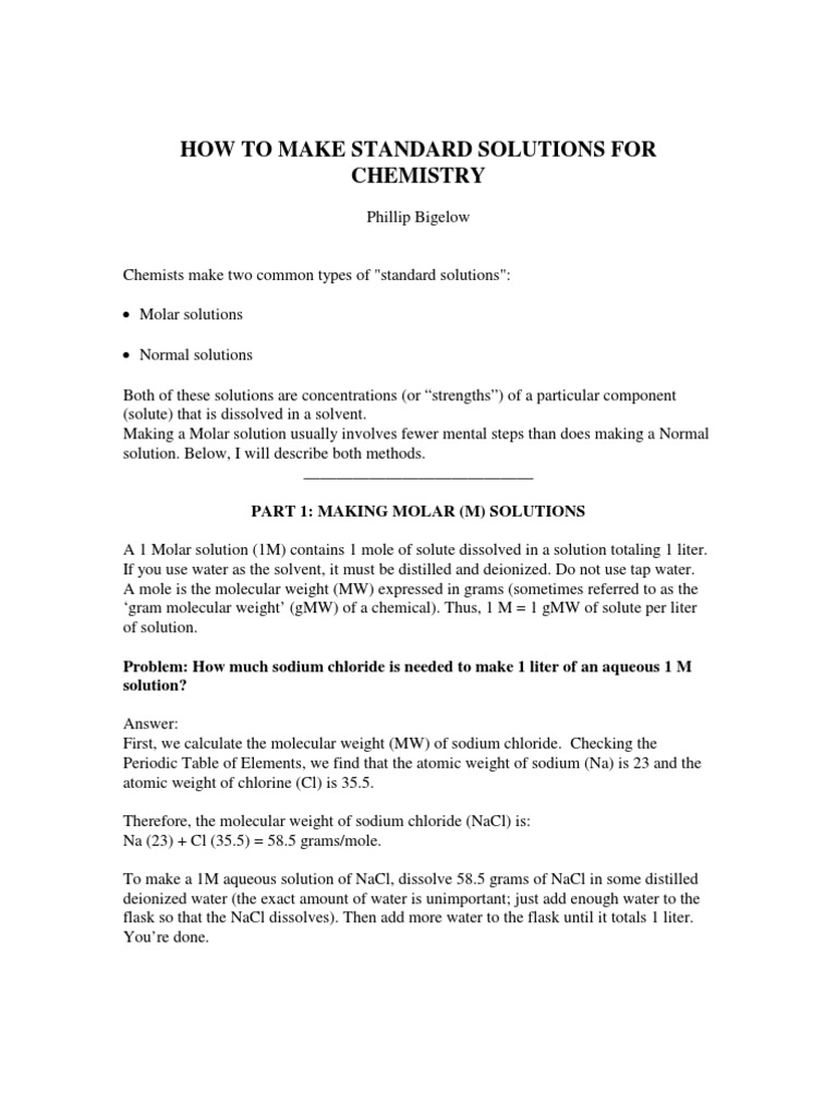 Making molar normal solutions acid hydrochloric acid gamestrikefo Choice Image
