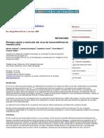 Biología Celular y Molecular Del Virus de Inmunodeficiencia Humana (VIH)