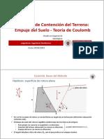 Tema 2c.- Sistemas de Contencion Del Terreno_Coulomb
