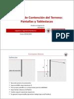 Tema 2d.- Sistemas de Contencion Del Terreno_Pantallas