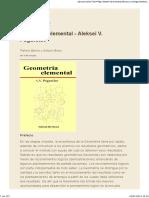 Geometria Elemental - Aleksei v. Pogorelov