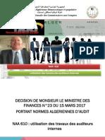 NAA 610 Utilisation Des Travaux Des Auditeurs Internes