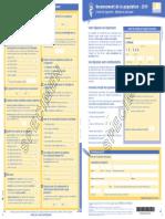 Feuille Logement - Recensement Janvier 2019