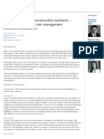 Decennial Liability in Construction Contracts - Recommendations for Risk
