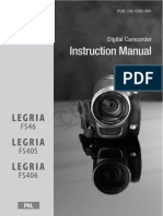 Canon LEGRIA FS46, FS405, FS406 Instruction Manual - FS46_FS405_FS406_IM_P_EN.pdf