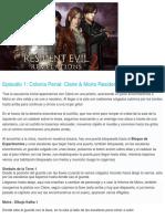 guia RE2 Revelation