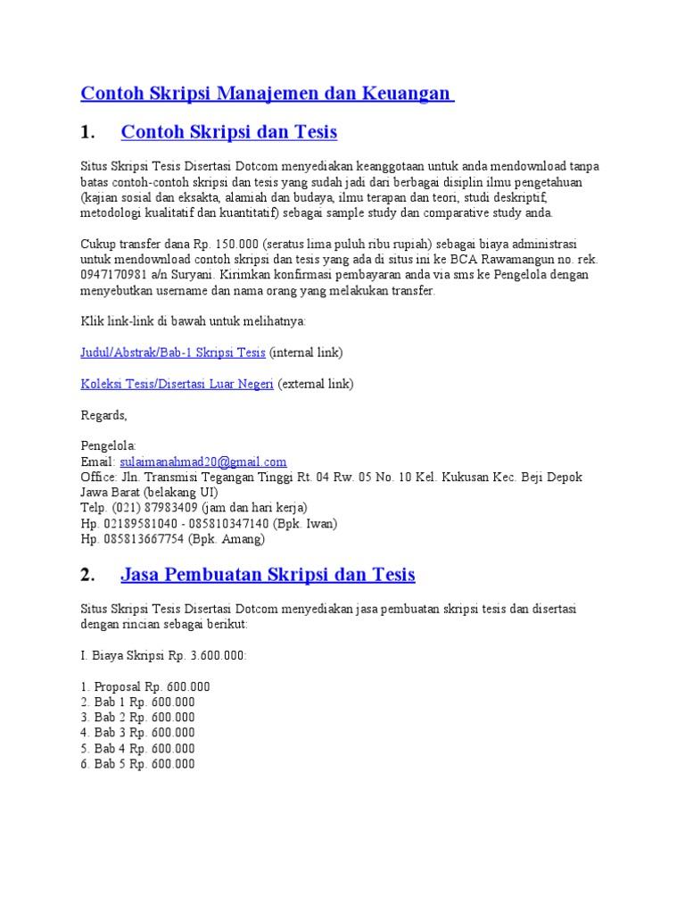 Contoh Skripsi Akuntansi Biaya Pdf