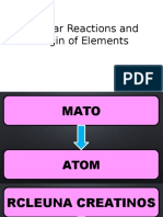 Nuclear Reactions and Origin of Elements