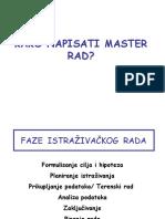 Kako Napisati Master Rad