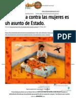 Humanidad Vigente _ La Violencia Contra Las Mujeres Es Un Asunto de Estado. - Humanidad Vigente