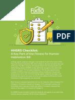 HHSRS Checklist