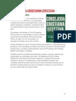 Resumen ConsejeríaCristiana - Sergio Mijangos