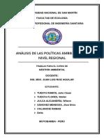 Analisis de La Politica a r