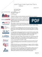 Coalition Letter Urging Trump to End the Inflation Tax
