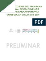 Documento Base Del Programa Nacional de Convivencia Escolar Para Autonomia Curricular 2018 2019