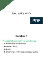Pancreatitis MCQs