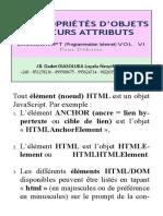 Propriétés d'Objets Et Leurs Attributs, et Pseudo-Classes - JavaScript