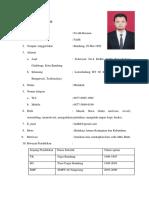 Curiculum Vitae Faidh Terbaru 2018