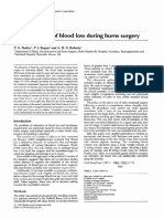 The Estimation of Blood Loss During Burns Surgery