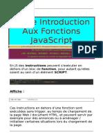 Petite Introduction Aux Fonctions JavaScript