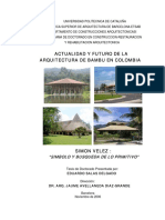 Actualidad y Futuro de La Arquitectura de Bambú en Colombia