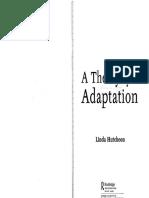 Theory of Adaptation(HUTCHEON, 2006)