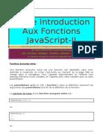 Petite Introduction Aux Fonctions JavaScript-II