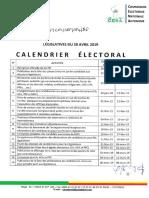Calendrier Electoral Officiel Legislatives 2019