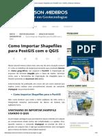 2 - Como Importar Shapefiles Para PostGIS Com o QGIS _ _ Anderson Medeiros