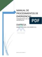 MANUAL DE PROCEDIMIENTOS DE EMERGENCIAS - TRANSPORTE DE CARGAS GENERALES.docx