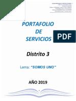 Portafolio de Servicios Dto-3- 2019