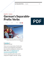 How to Use German Separable-Prefix Verbs