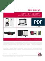 201812 Techno Sun Lista de Precios Solar Fotovoltaica 2019