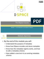 Module - An Introduction to Metadata in DSpace (Slides)