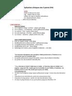 Aplication Cliniques Des 5 Points SHU