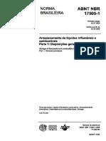 ABNT NBR 17.505-2006 - Armazenamento de Líquidos Combustíveis e Inflamáveis