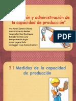 Planeación y Adm. de La Capac. de Produccion